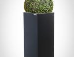 Donica stalowa Cubi Antracite 80h + wkład DONICESTALOWE.PL - zdjęcie 2