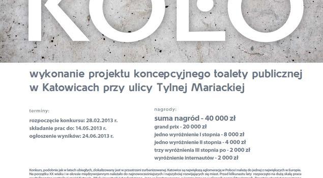 Konkurs na toaletę publiczną Projekt Łazienki 2013