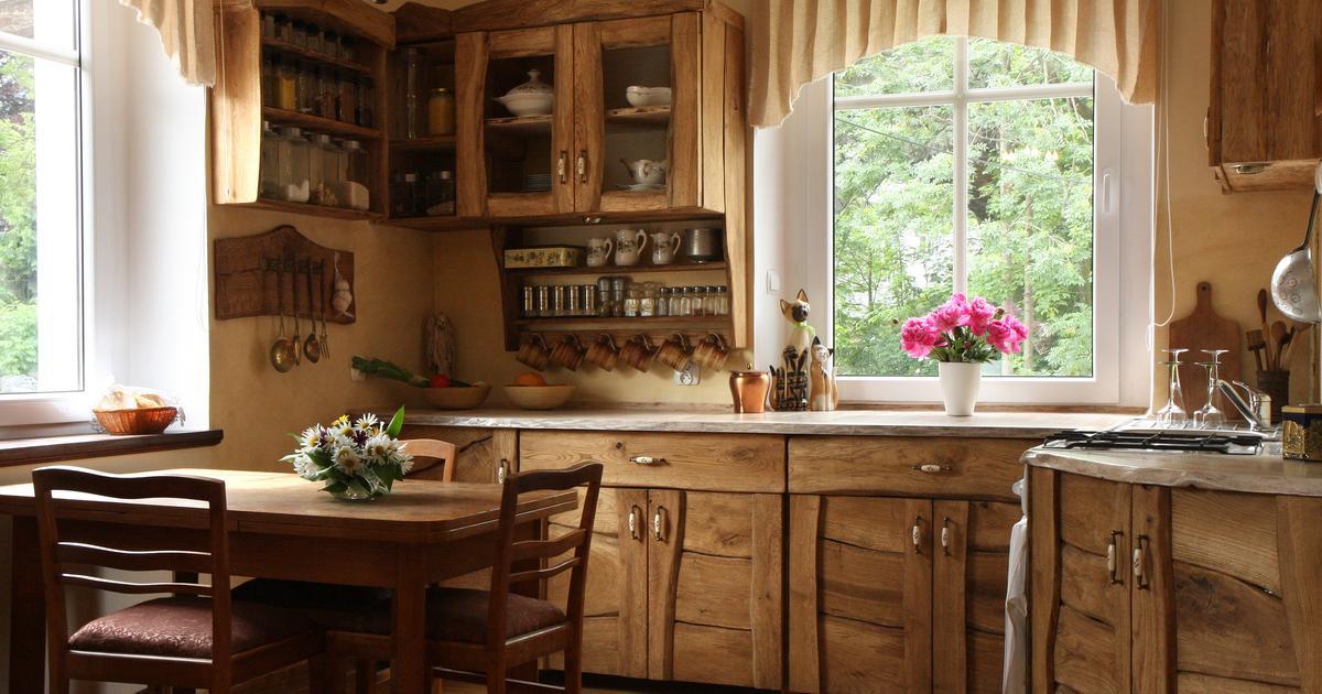 Aranżacja kuchni  styl rustykalny -> Kuchnie W Rustykalnym Stylu