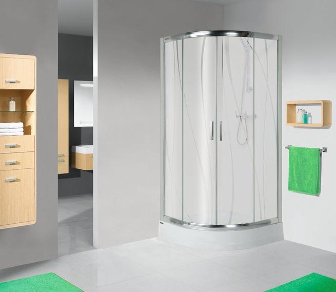 Jasna i nowoczesna aranżacja łazienki