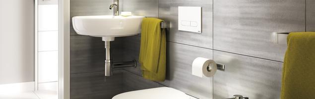 Źółty kolor w łazience