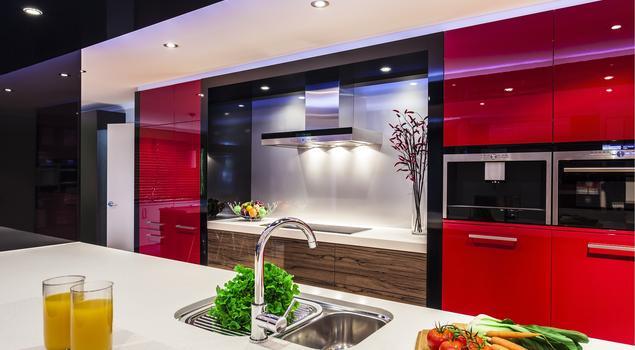 Czerwona kuchnia  fronty lakierowane